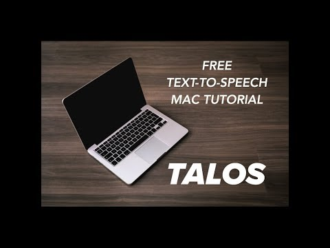 Tutorial: Free text to speech using the default Mac OS app