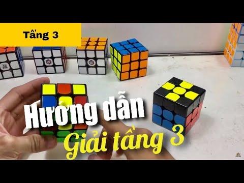 Hướng dẫn cách giải Rubik 3x3 [Chậm, đơn giản, dễ hiểu] Tầng 3