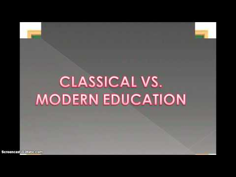 TED Talk: Classical vs. Modern Education