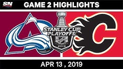 NHL Highlights | Avalanche vs Flames, Game 2 - Apr 13, 2019