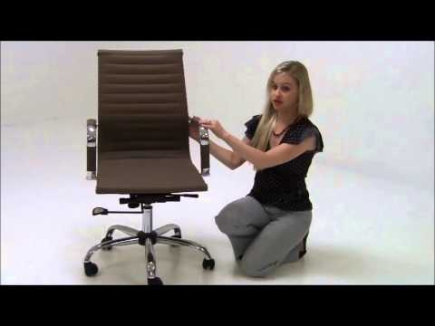 Modern Classic Design Office Chair in Black, White, or Taupe
