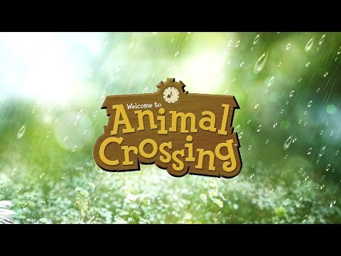 1 Hour of Relaxing Rainy Day Animal Crossing Music + Rain Sounds