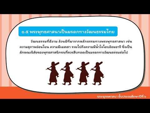 พระพุทธศาสนา ป 6 เรื่องความสำคัญของพระพุทธศาสนา