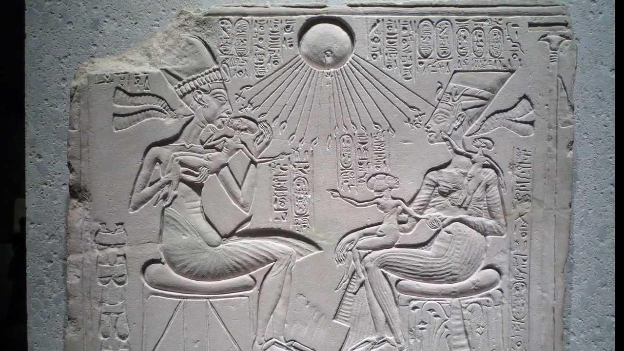Akhenaten, Nefertiti, and Three Daughters