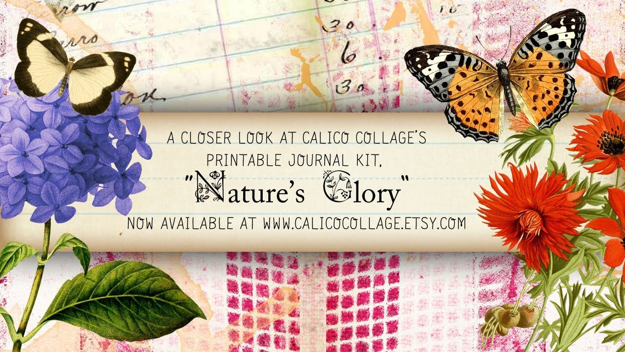 Printable Journal Kit Nature's Glory by Calico Collage