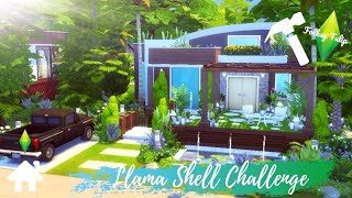The Sims 4 Speed Build || BASE GAME || Llama One Shell Challenge || NO CC