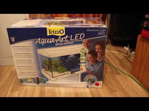 Tetra AquaArt Aquarium Complete Set 60L (White) - Unboxing