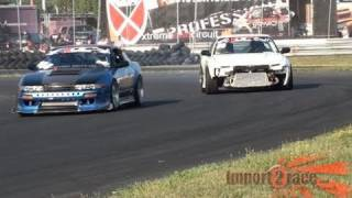 Nissan Silvia/240sx Hit wall Drifting Crash