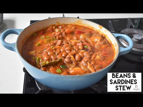 SARDINES & BEANS STEW RECIPE - QUICK, COST EFFECTIVE & FLAVOUR PACKED. (STUDENTS MEAL)