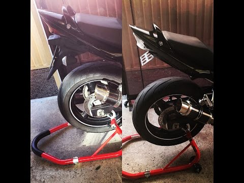 Suzuki GSX650F DIY Fender Eliminator Plus Clear Integrated Tail Light Install