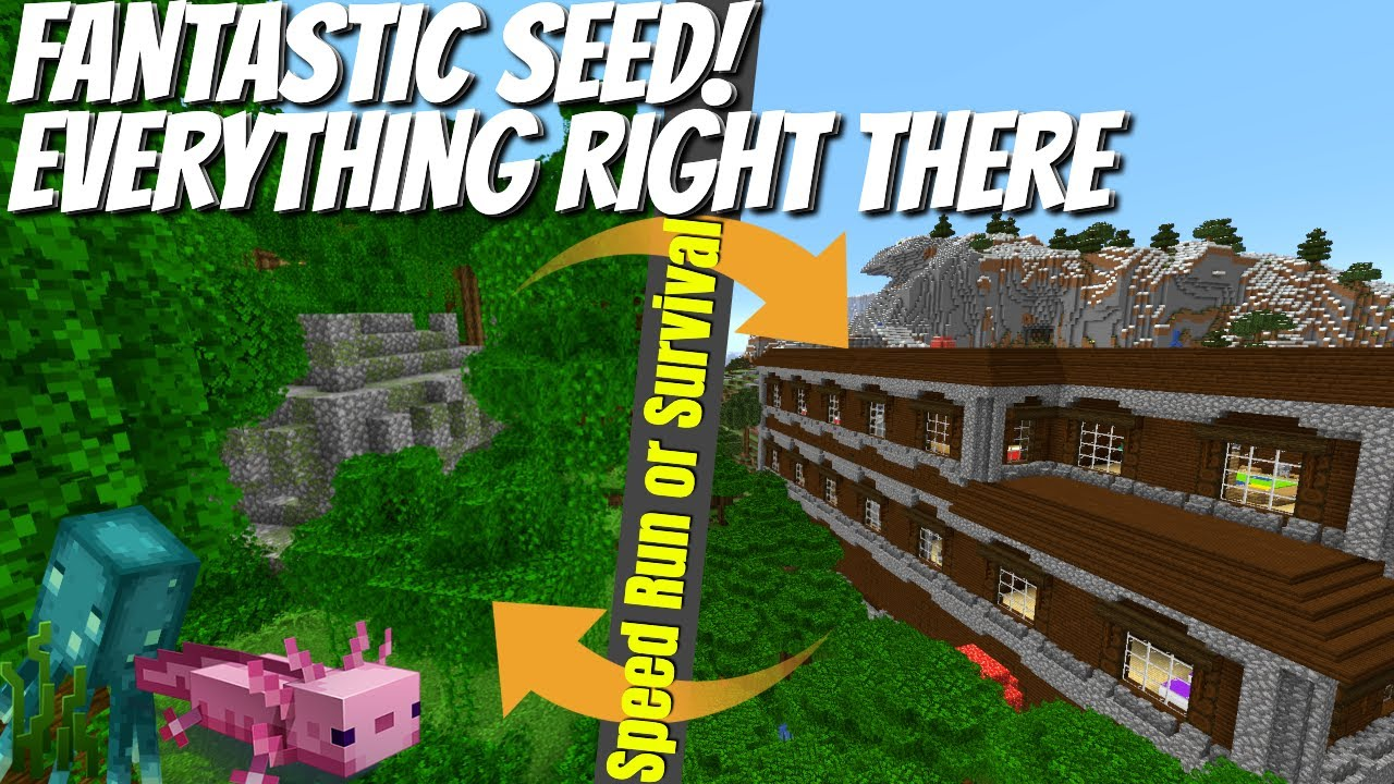 Best Minecraft Seeds   All the Structures   Great Minecraft Speed Run Seed   Beautiful Biomes