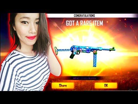 MP40 Crazy Bunny Permanent Skin - Weapon Royale - Garena Free Fire - Sooneeta