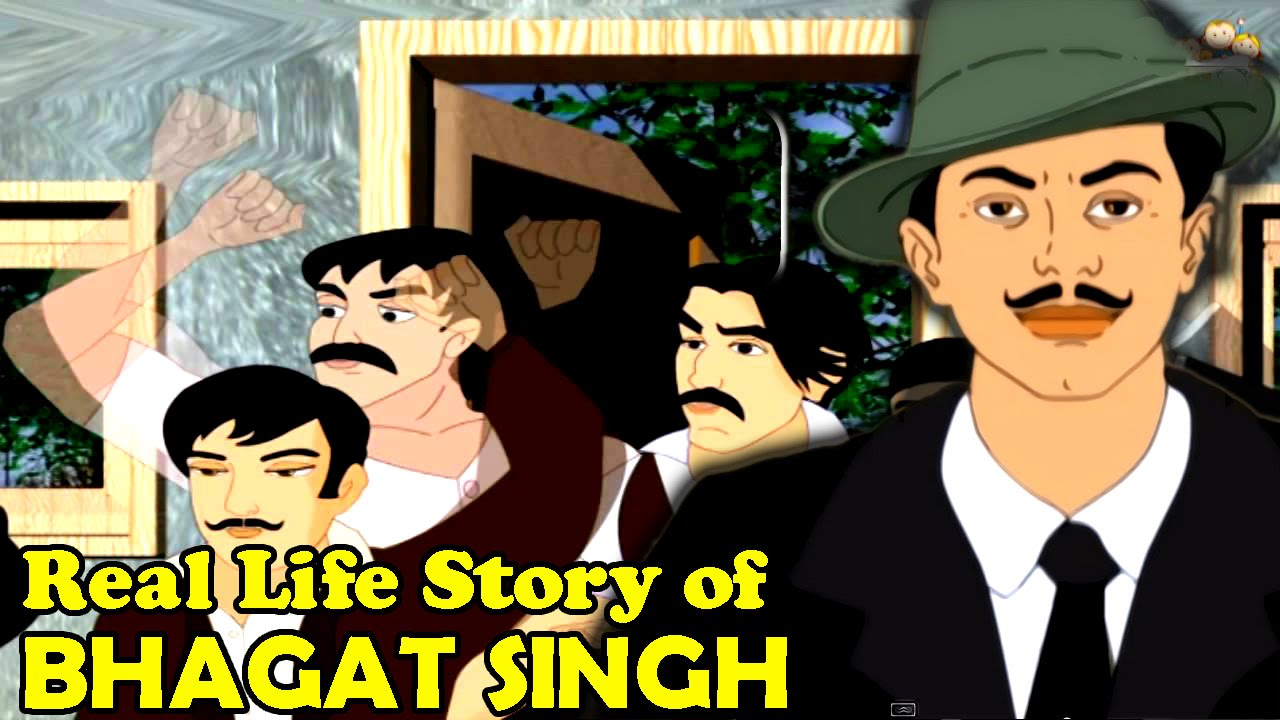 real life story of bhagat singh part latest hindi animated real life story of bhagat singh part 1 latest hindi animated story movie for kids
