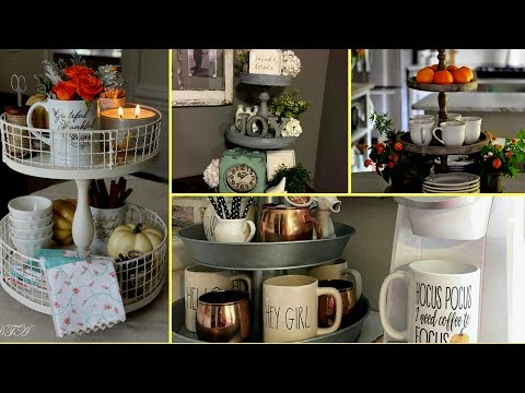 ❣DIY Farmhouse style Tiered Tray Decor Ideas- Rustic Home Decor Inspiration  2017❣