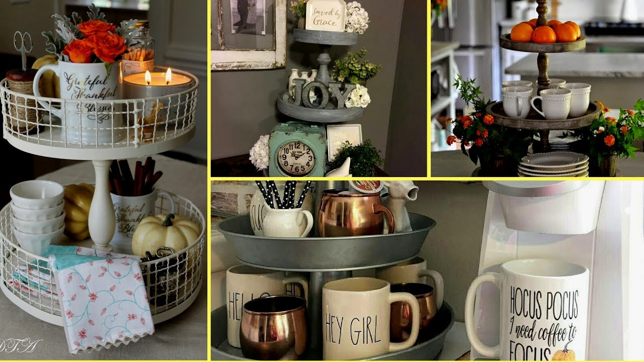 Diy Farmhouse Style Tiered Tray Decor Ideas Rustic Home