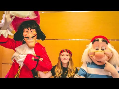 Disney Cruise from New York City on Disney Magic Day 2: Pirate Night!