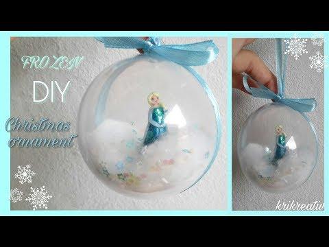 Christmas - Ornament *Frozen* Elsa Weihnachtskugel DIY - KRIKREATIV