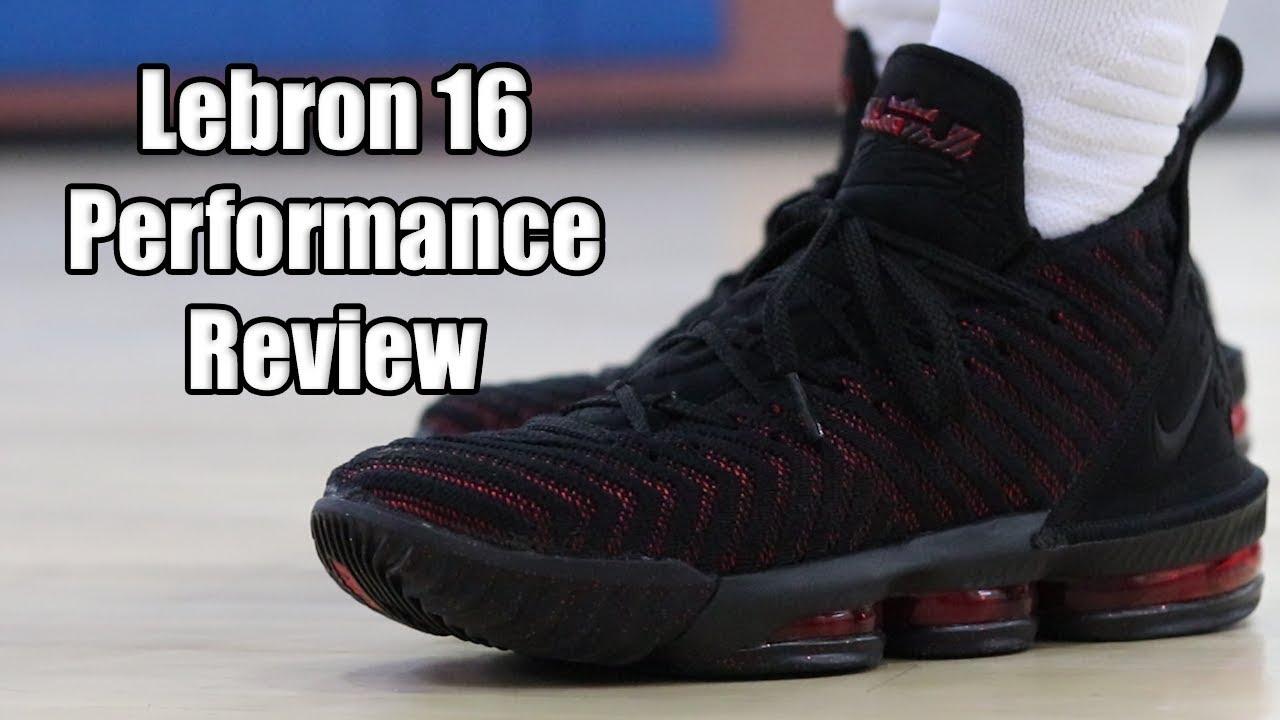 0a1d5e3fd439 NIKE LEBRON 16 PERFORMANCE REVIEW! - YouTube