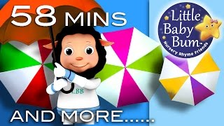 Rain Rain Go Away | Plus More Great Nursery Rhyme Videos! | 58 Minutes Long | From LittleBabyBum