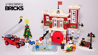 Lego Creator Expert 10263 Winter Village Fire Station Speed Build