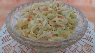 Вкусный Крабовый Салат с Пекинской Капустой!!!!