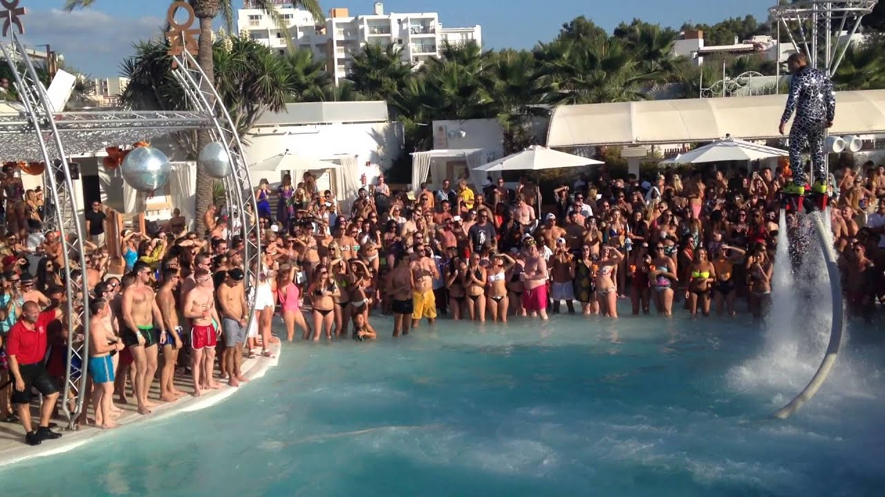 The Best Pool Party Flyboard Show Ibiza Spain Youtube