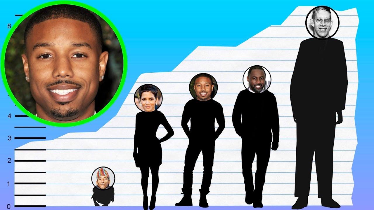 Fanático Estoy orgulloso acortar  How Tall Is Michael B. Jordan? - Height Comparison! - YouTube