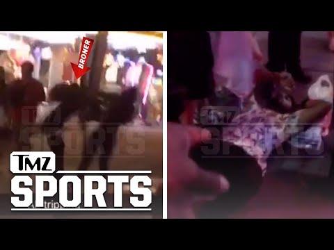 Adrien Broner Knocks Out Guy, Shoves Woman on Vegas Strip in Crazy Video | TMZ Sports