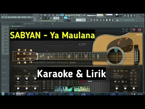 tanpa-vocal---ya-maulana-nissa-sabyan-(karaoke-&-lirik)-terbaru-||-cover-fl-studio