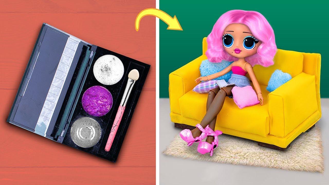 Kullanışmış Makyaj Malzemelerinden 10 Kendin Yap Tarzı Minyatür Mobilya ve Aksesuar