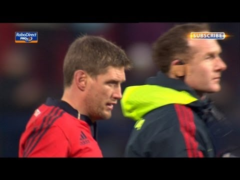 Ronan O'Gara splits Musgrave posts with halftime penalty - Munster V Connacht 23rd March 2013