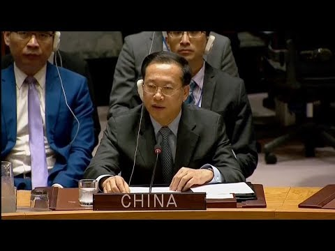 China's UN envoy urges political settlement to Syria issue