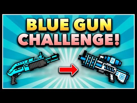 Pixel Gun 3D - Blue Gun Game Challenge! (Using ALL Blue Weapons)