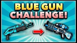 Pixel Gun 3D - Blue Gun Game Challenge! (Using ALL Blue Weapons)