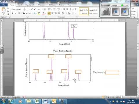 Dr. Udell AP Chem photoelectron spectroscopy
