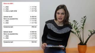 Slevy na dani z příjmu fyzických osob (výpočet)