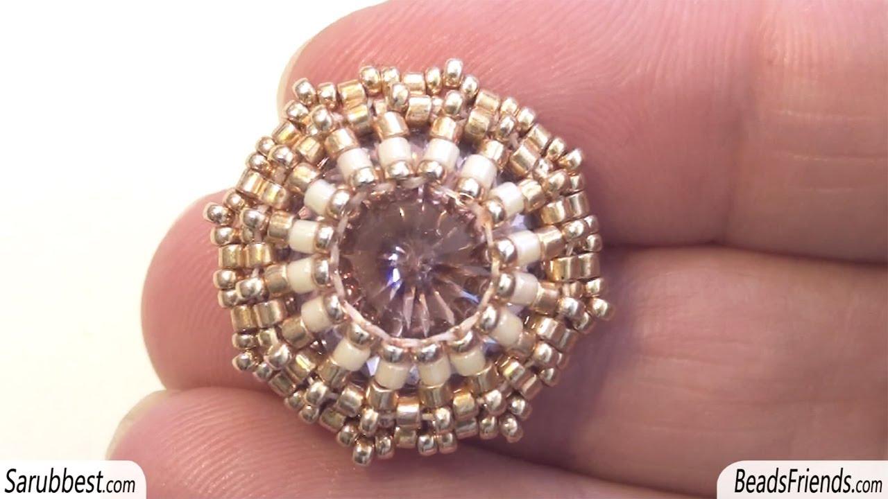 Popolare Sarubbest: Orecchini a bottone con perline: uno schema diverso per  QM29