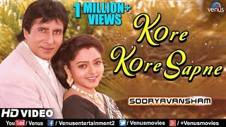Kore Kore Sapne Mere | Amitabh Bachchan & Soundarya | Sooryavansham | 90's Blockbuster Romantic Song