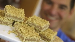 Chocolate Peanut Butter Oat Bars: No-bake Crumbly Layers   Totally Sacha