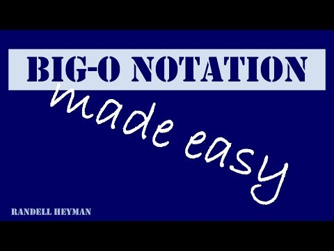 Big O notation made easy