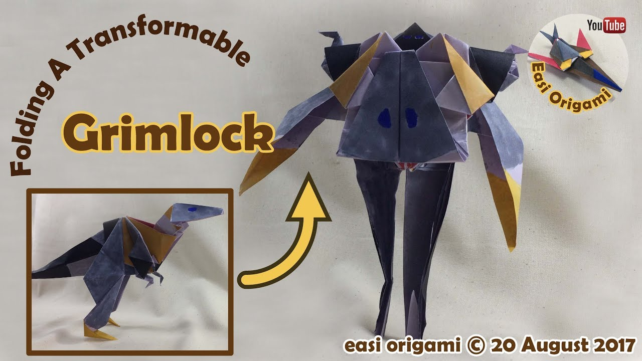 How to make a papercraft origami grimlock requires 3 straight how to make a papercraft origami grimlock requires 3 straight cuts jeuxipadfo Images