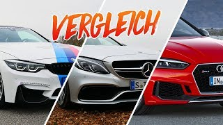 BMW M4 vs. Audi RS5 vs. Mercedes-AMG C 63 S