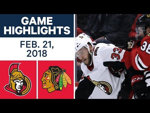 NHL Game Highlights | Senators vs. Blackhawks - Feb. 21, 2018