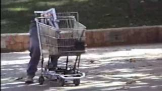 GizmoGarden Flaming Robot Walking Shopping Cart Boots Dub