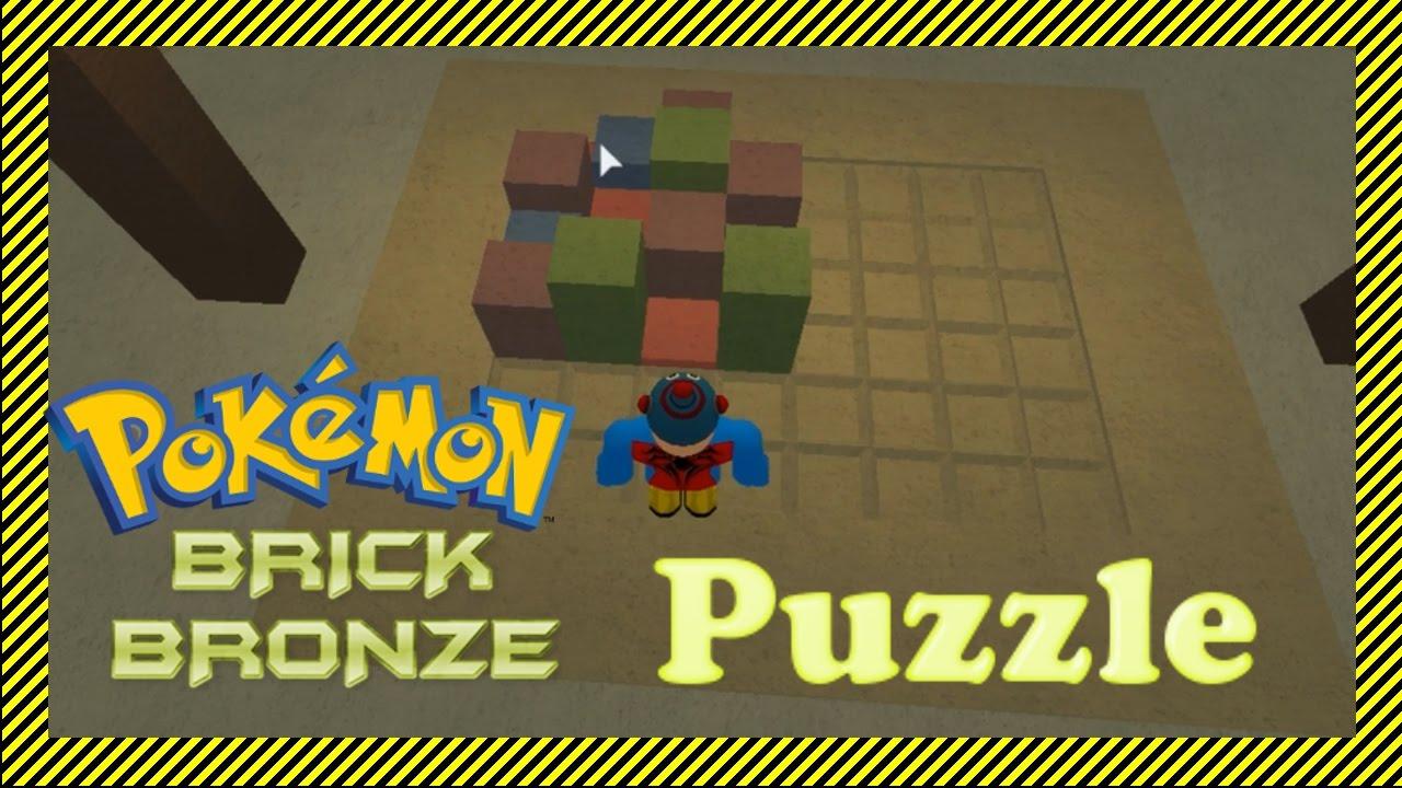ROBLOX Pokemon Brick Bronze Block Puzzle SOLVED - Temple Puzzle Solution  (after 5th Gym)| Purple Gem