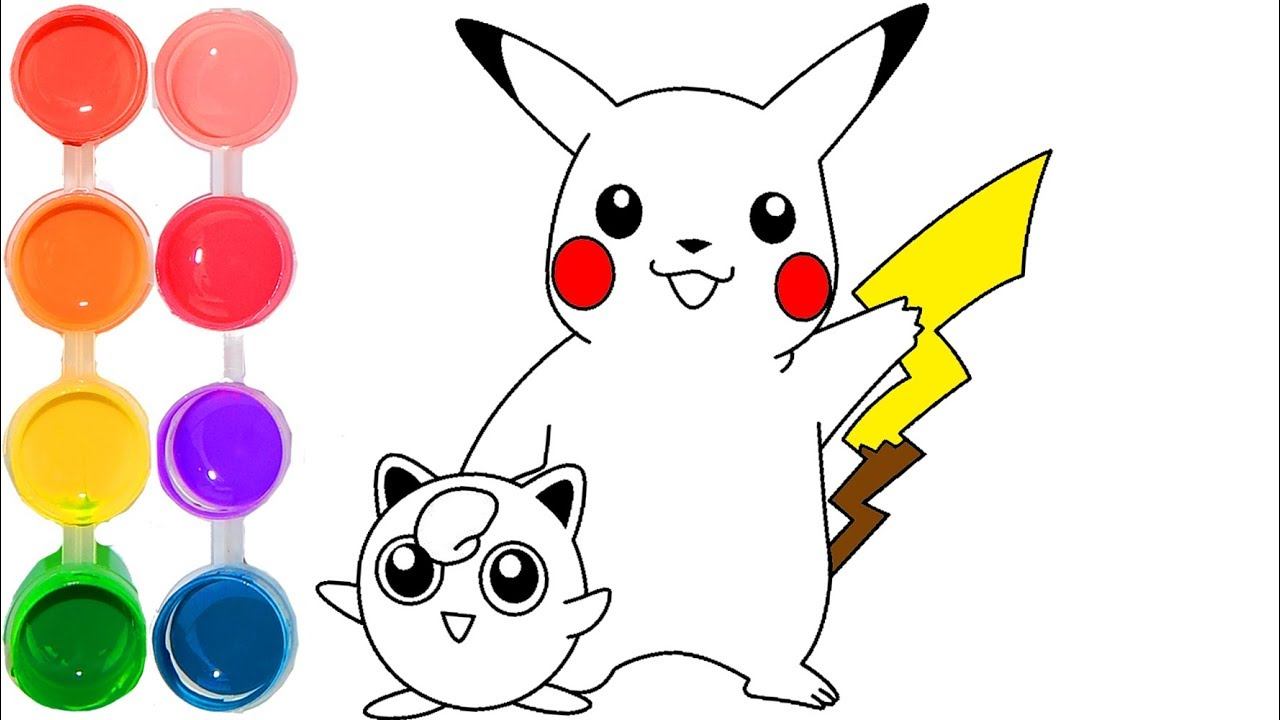 How to Draw & Color Pikachu of Pokemon Go | Game & Drawing ...