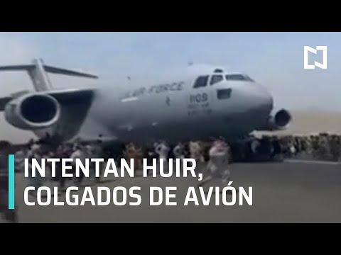 Colgados de aviones, tratan de huir de Afganistán tras llegada de Talibanes - Expreso de la Mañana