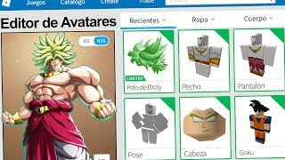 We created the BROLY PROFILE in ROBLOX !! | Rovi23 Roblox
