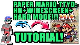 Dolphin Emulator Tutorial - Paper Mario: The TTYD - Widescreen + HD + Hard Mode!!!