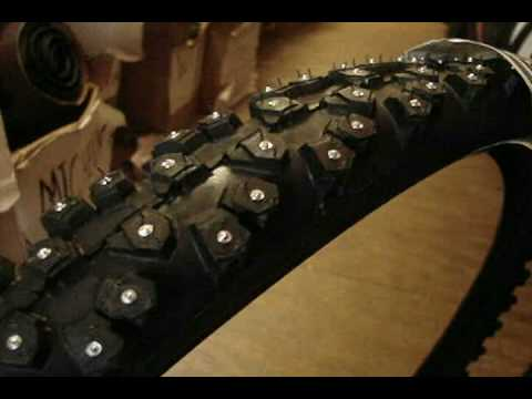 Nokian Extreme 294 Studded Winter Bike Tires - YouTube 2a9dc2d26